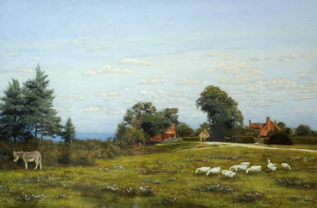 Arthur Hughes. Bargfield Meadow