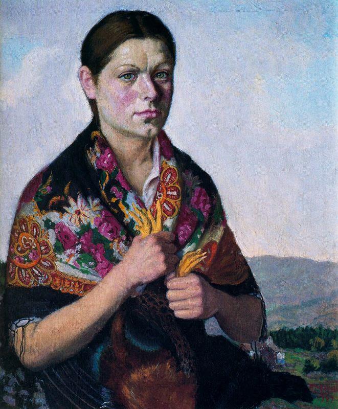 Антонио Медаль. Женщина с косынкой