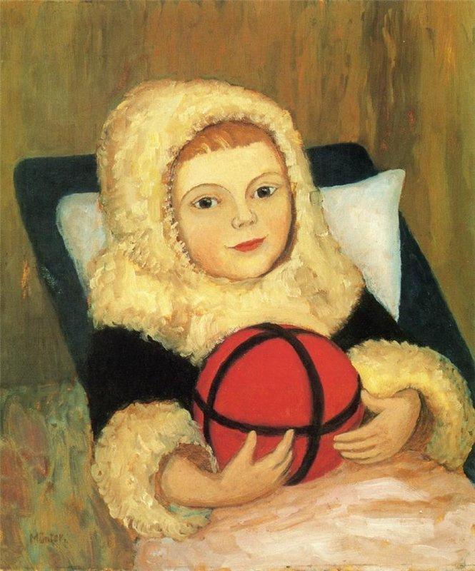 Габриель Мюнтер. Ребенок с мячом