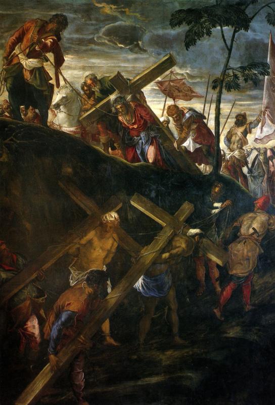 Jacopo (Robusti) Tintoretto. Climbing Calvary