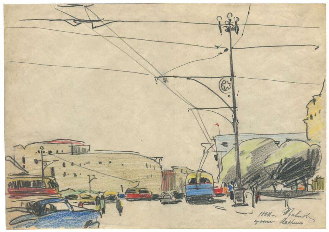 Alexandrovich Rudolf Pavlov. Lenin Avenue, Chelyabinsk. 1962