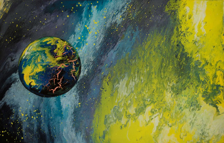"""Alla Struchayeva. Painting """"The Light of Asgard"""""""