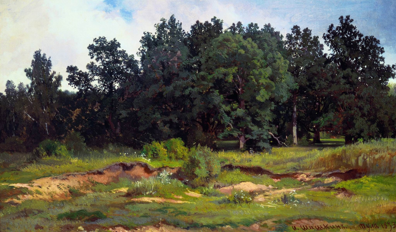 Ivan Shishkin. Dubrovy the woods in a gray day