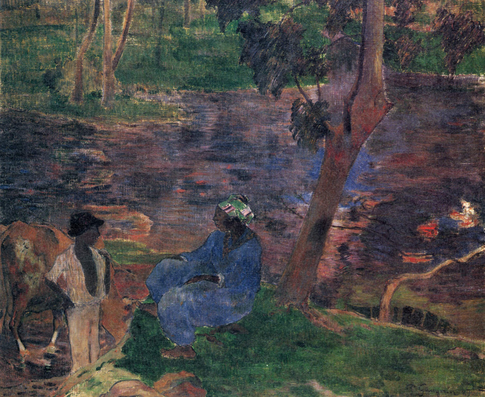 Paul Gauguin. At the Pond