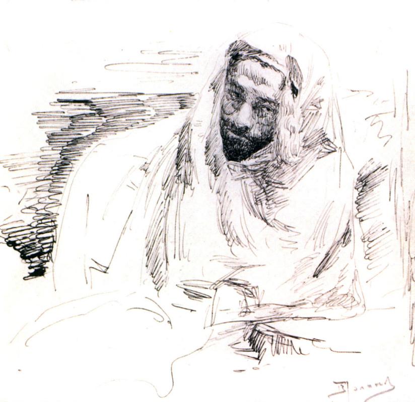 Vasily Polenov. Levitan in Bedouin clothes
