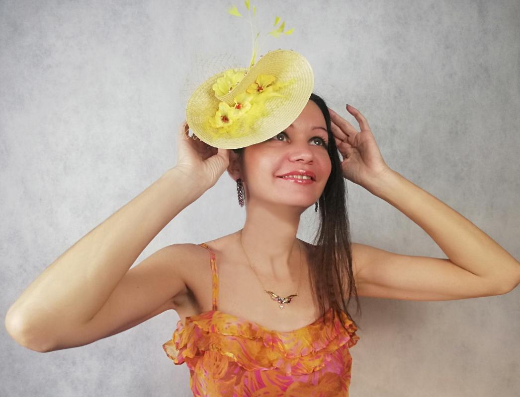 "Natalia Vladimirovna Solntseva. Hat ""Canary"""
