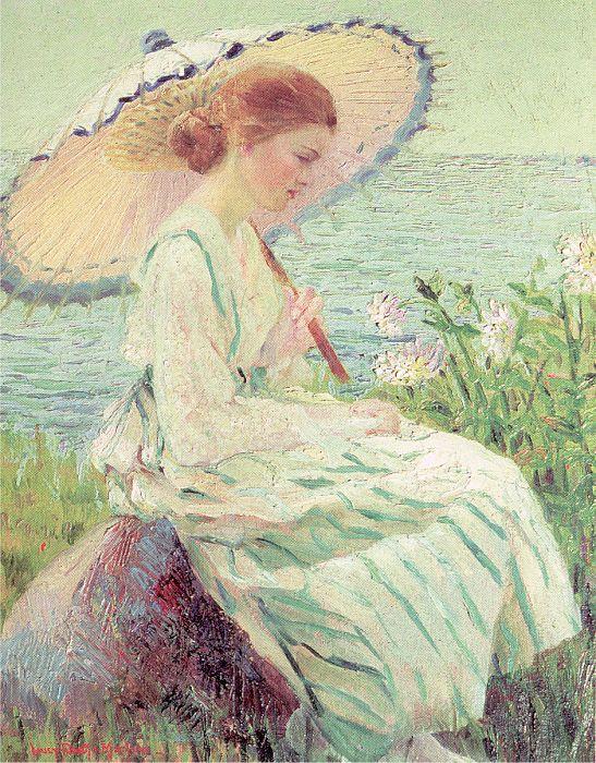 Уильям Марлоу. Девушка с зонтом
