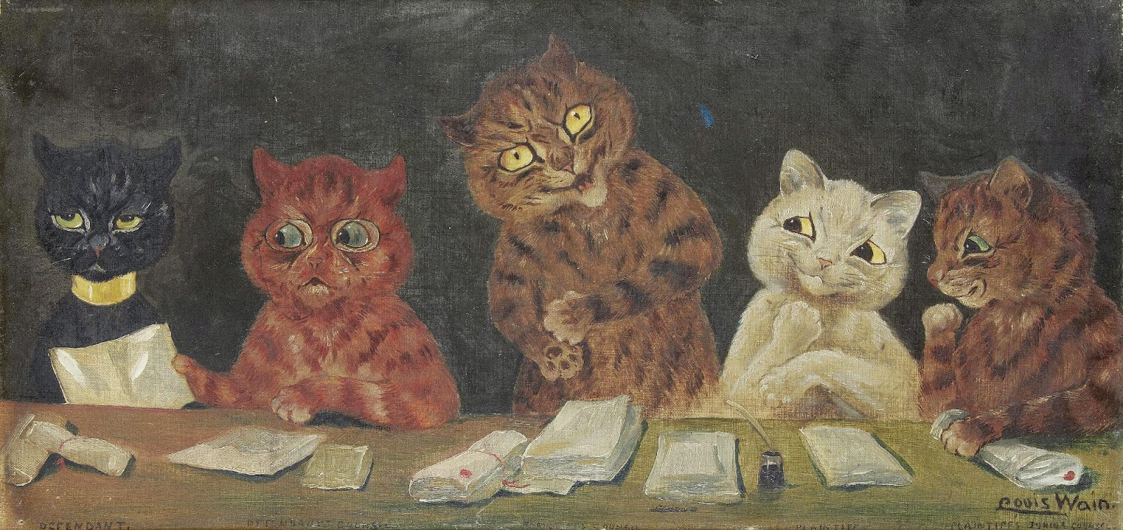Louis Wain. Trial