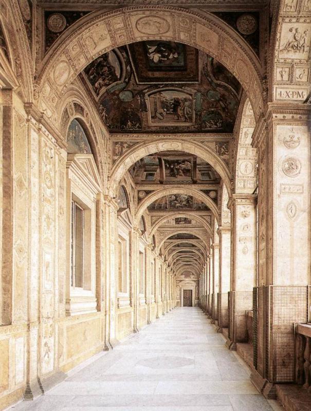 Рафаэль Санти. Лоджия папы Льва Десятого дворца понтифика в Ватикане