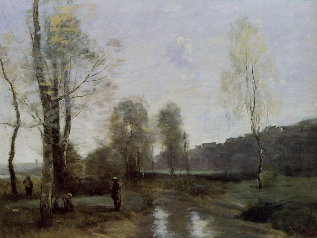 Камиль Коро. Канал в Пикарди