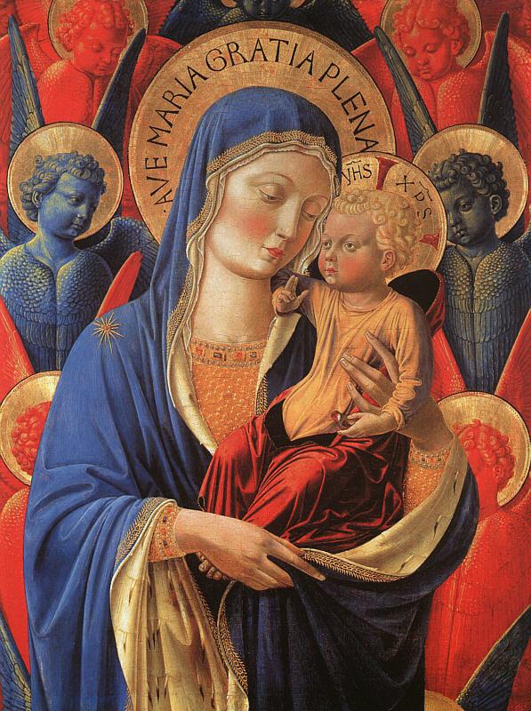 Беноццо Гоццоли. Мадонна с младенцем