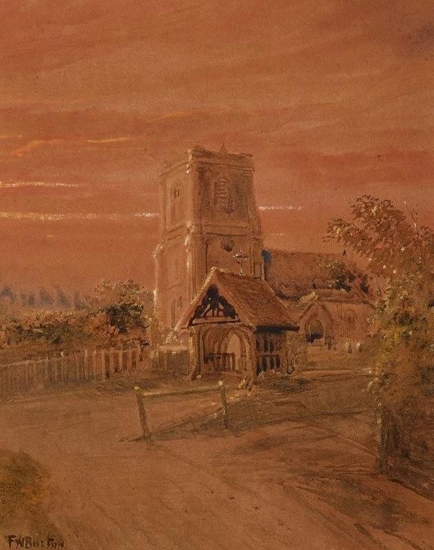 Frederick William Burton. Village Church