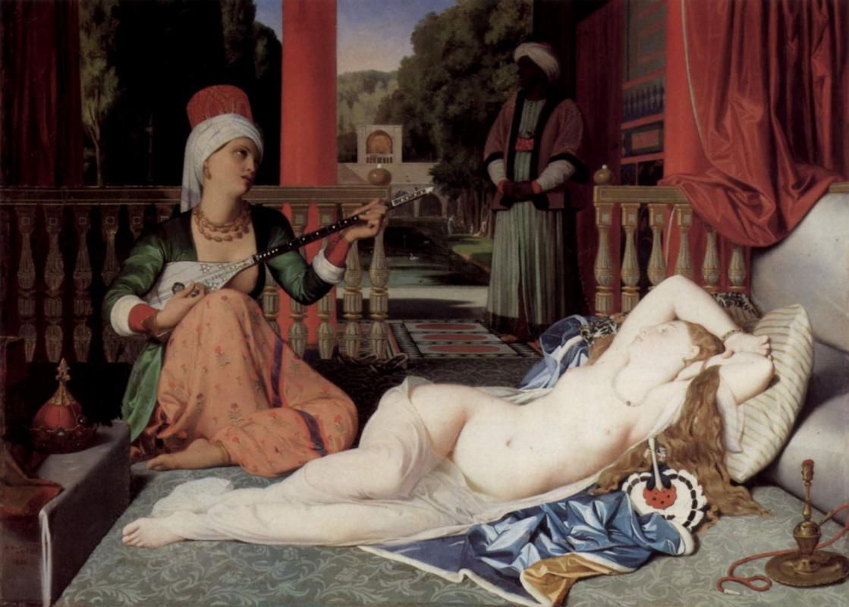 Jean Auguste Dominique Ingres. Odalisque and slave