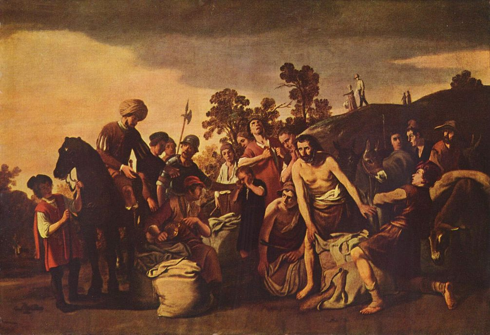 Клаес Корнелис Мойерт. Иосиф находит чашу в мешке Вениамина