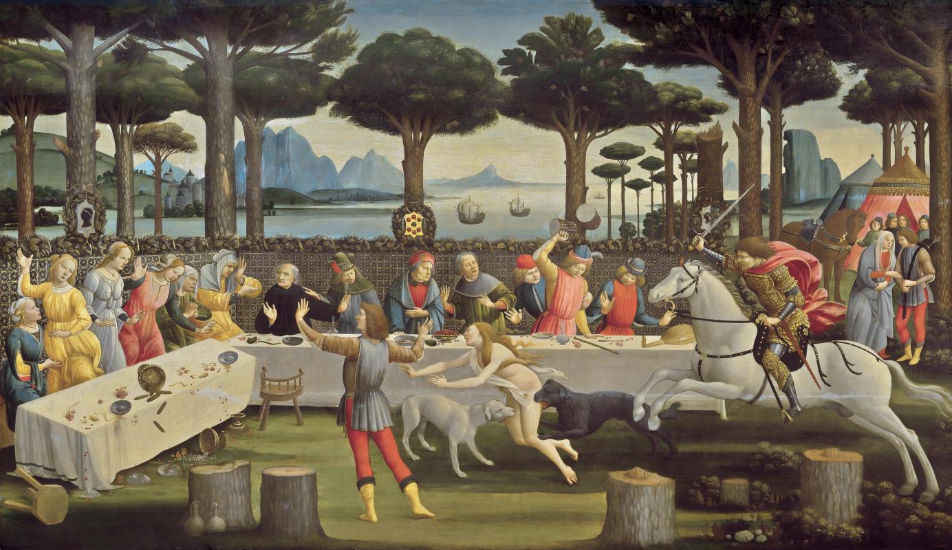 Сандро Боттичелли. Сцена из «Новеллы о Настаджо дельи Онести» III