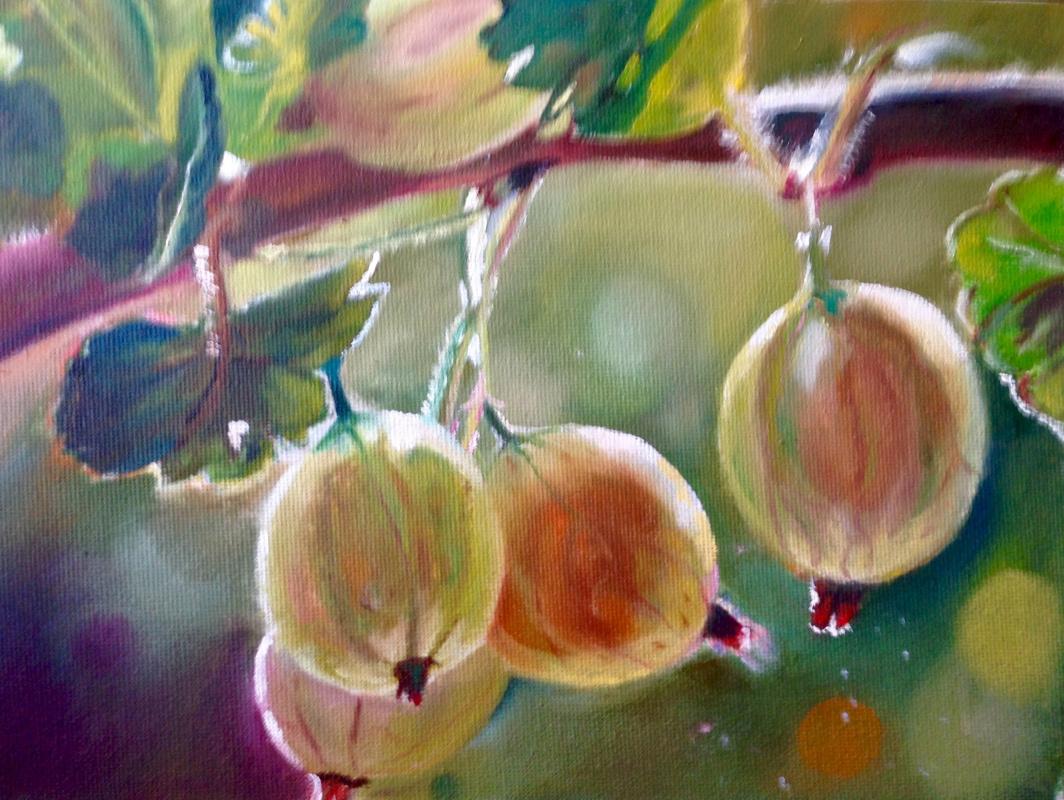 Olga Rybakova. The summer berries. Gooseberry