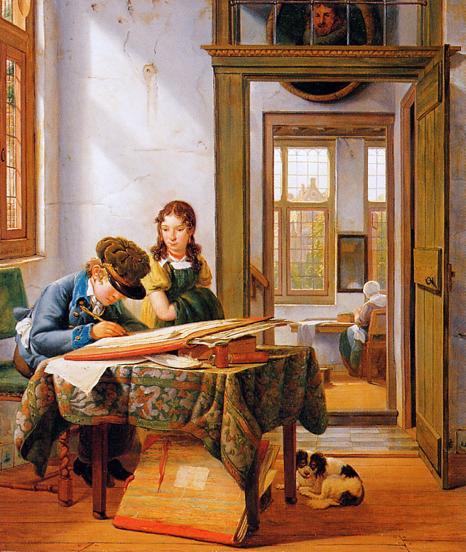 Абрахам ван Стрий. Молодой рисовальщик