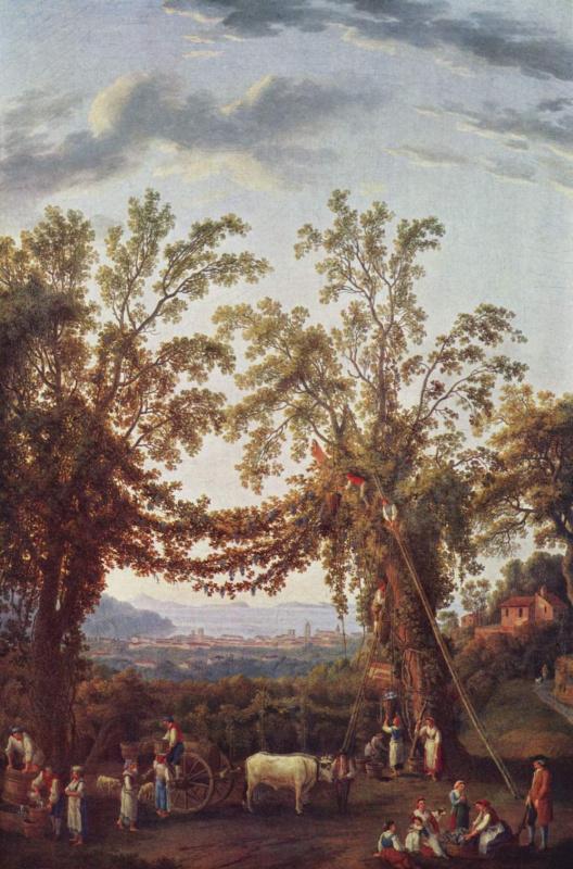 Якоб Филипп Хаккерт. Осень: виноградники близ Сорренто