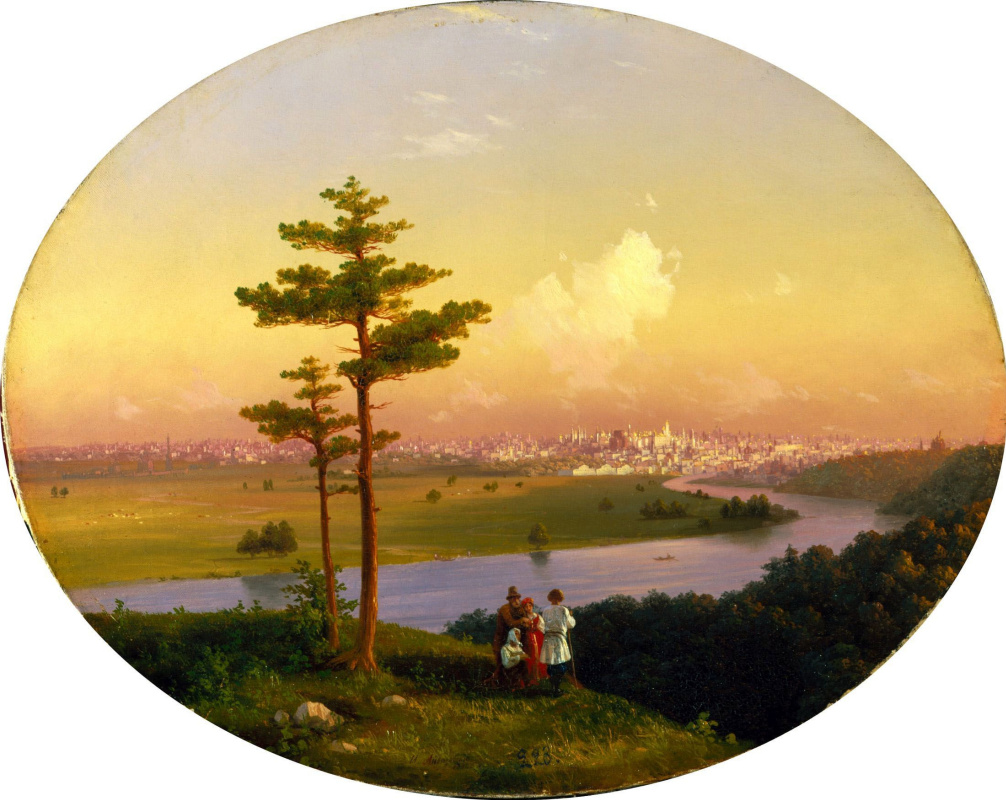 Иван Константинович Айвазовский. Вид на Москву с Воробьевых гор