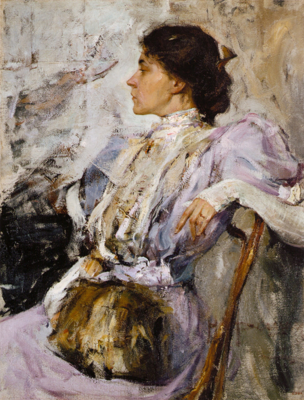 Nikolay Ivanovich Feshin. The lady in purple