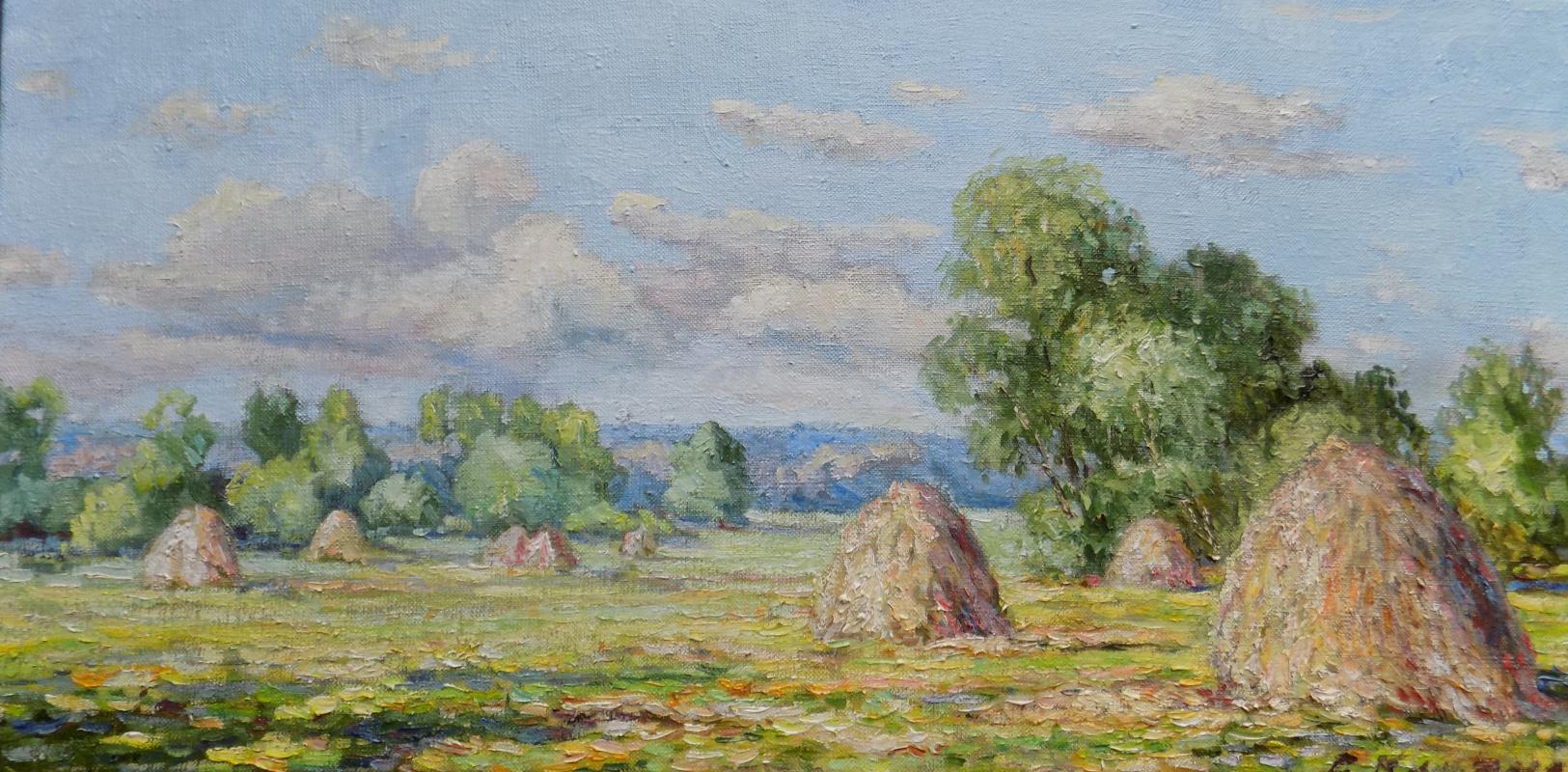 Victor Vladimirovich Kuryanov. Noon. Heaps in the meadow