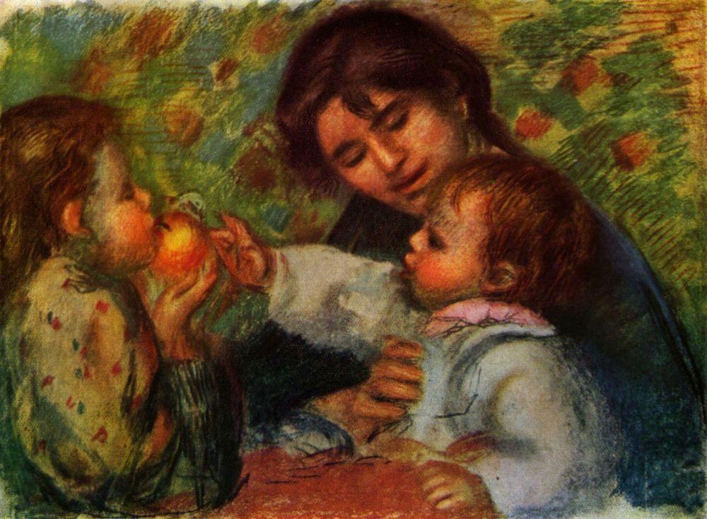 Пьер Огюст Ренуар. Портрет Жана Ренуара и Габриэль с ее ребенком