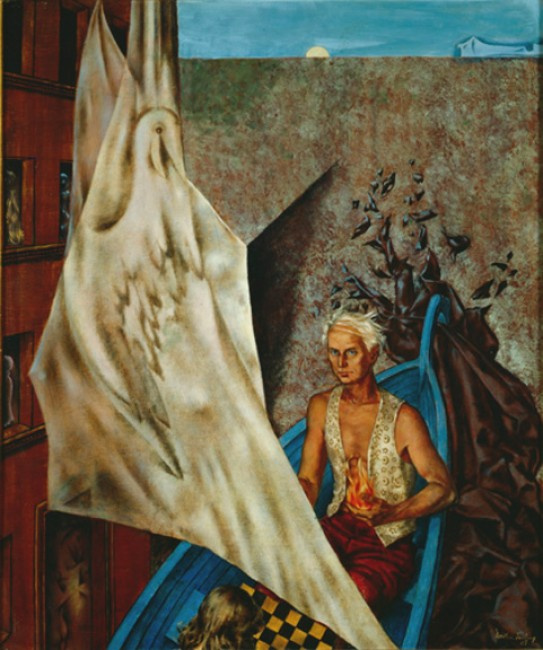 Dorothea Tanning. Max in a blue boat