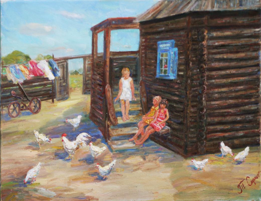 Tatiana Gennadievna Sorogina. Childhood.Skentiev yard.