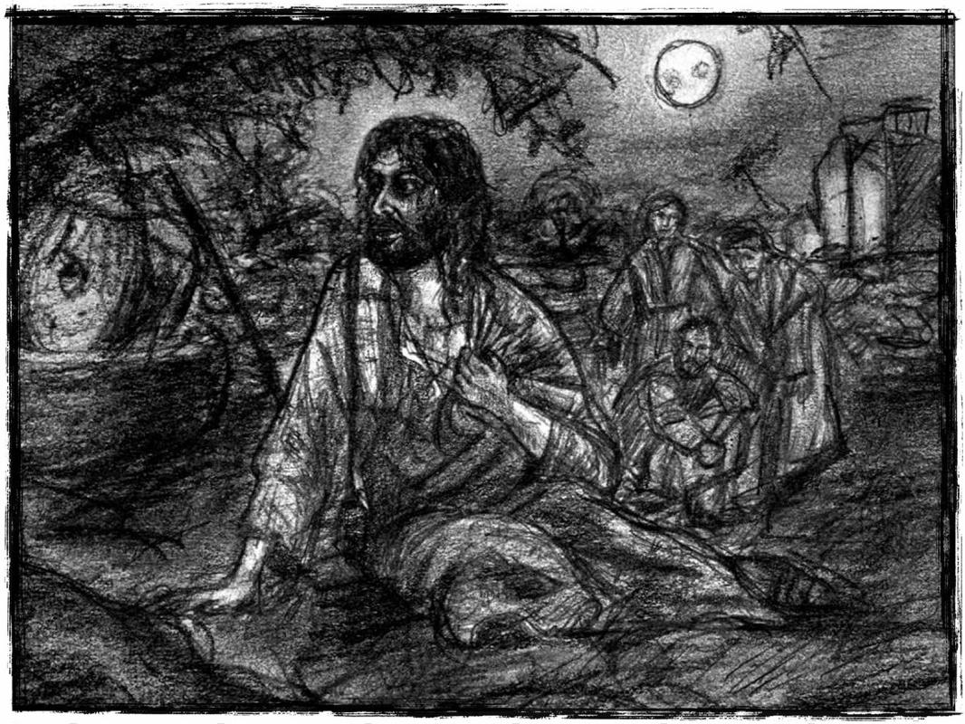 Konstantin Shevchenko. Prayer in Gethsemane