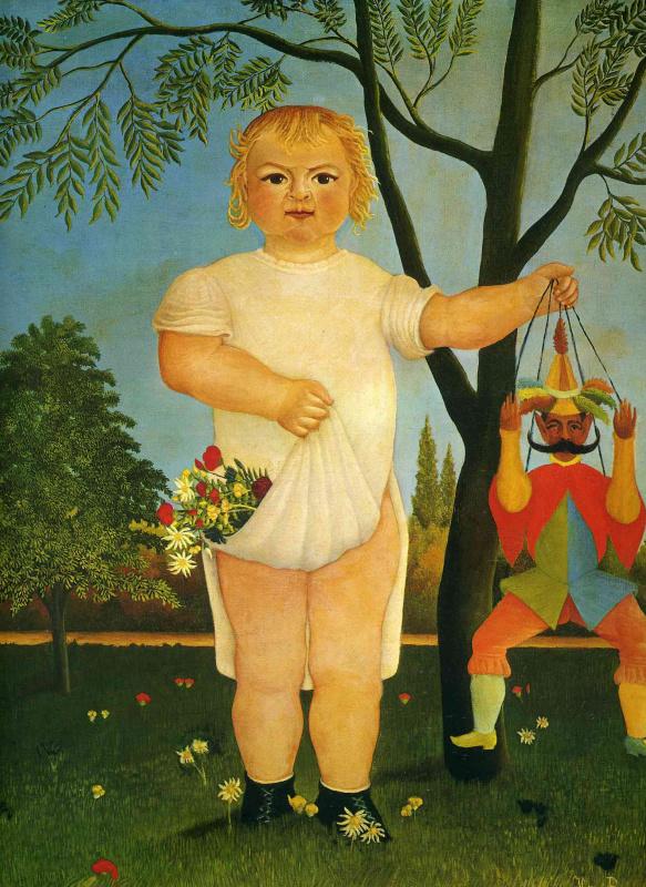 Анри Руссо. Ребенок с куклой