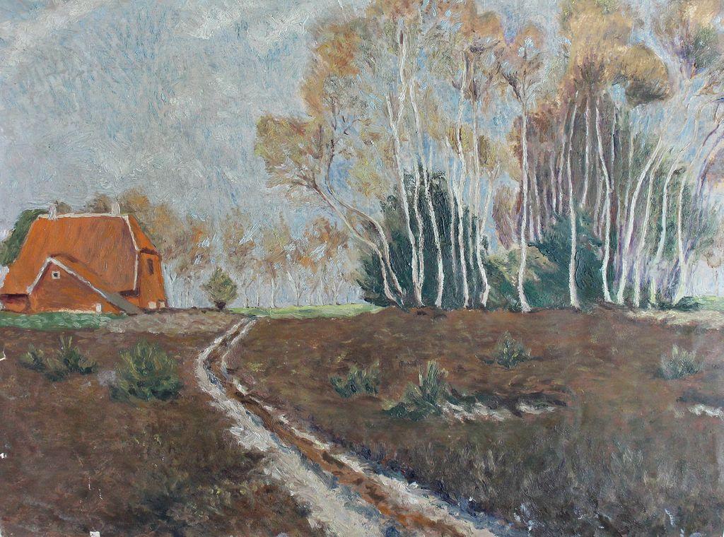 Unknown artist. Autumn landscape