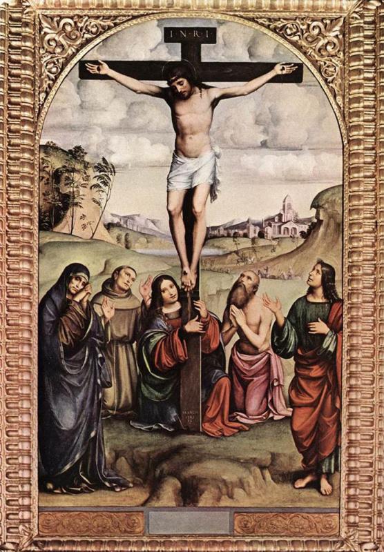 Франческо Франча. Распятие на кресте