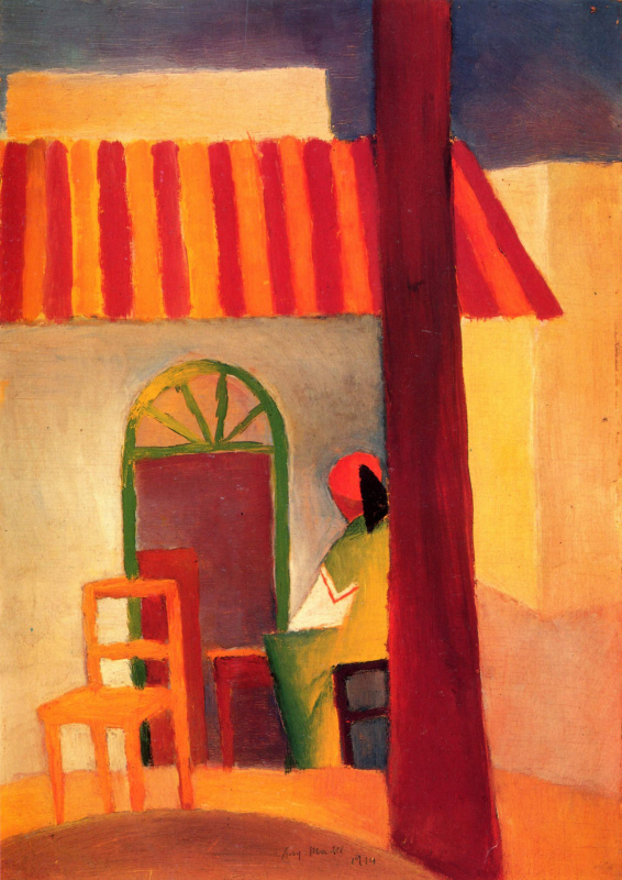 August Macke. The Turkish coffee shop