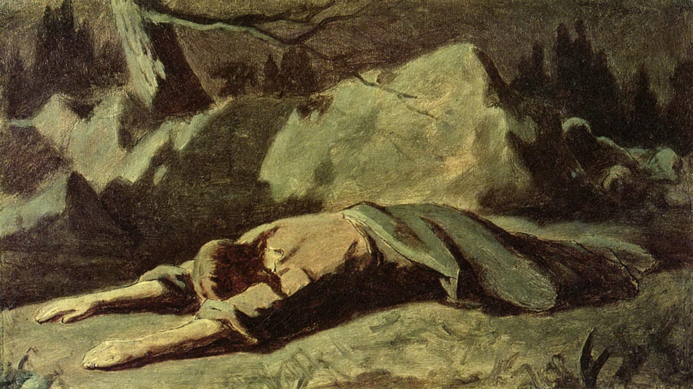 Christ in the garden of Gethsemane. Sketch by Vasily Grigorievich ...
