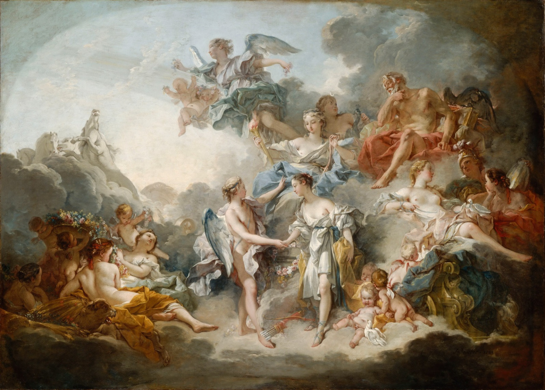 Francois Boucher. The Marriage of Cupid and Psyche