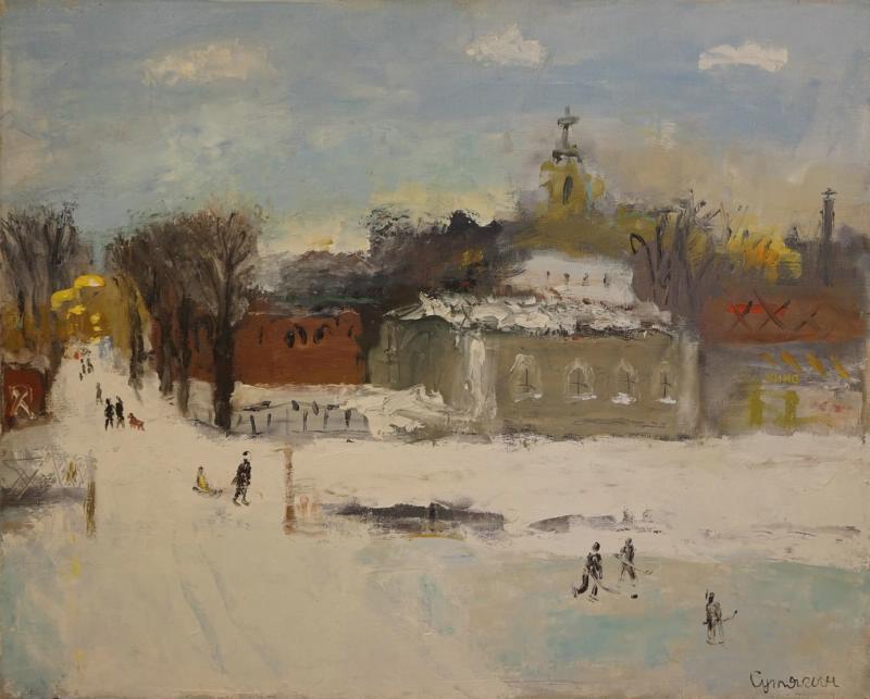Константин Викторович Сутягин. Winter. Schoolyard
