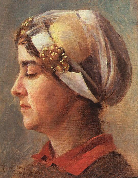 Теодор Робинсон. Женский профиль