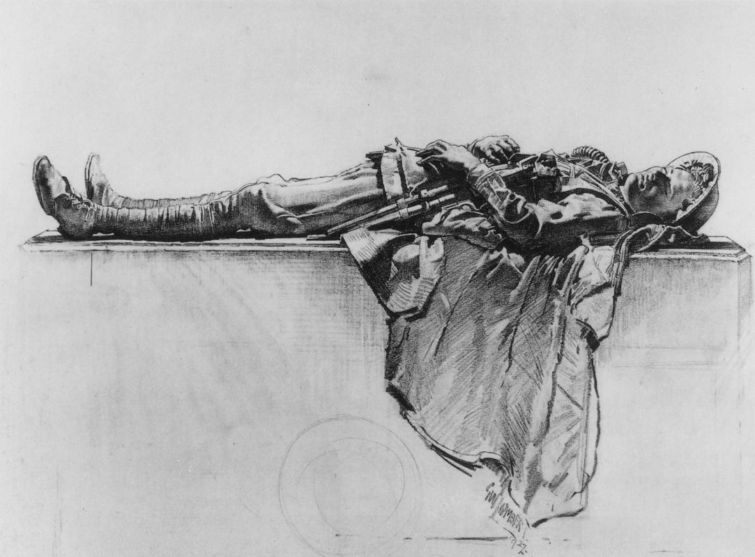 George Lambert. Lying soldiers