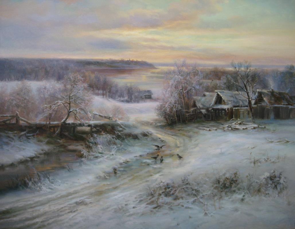 Sergey Vladimirovich Vorotilov. Winter in the village