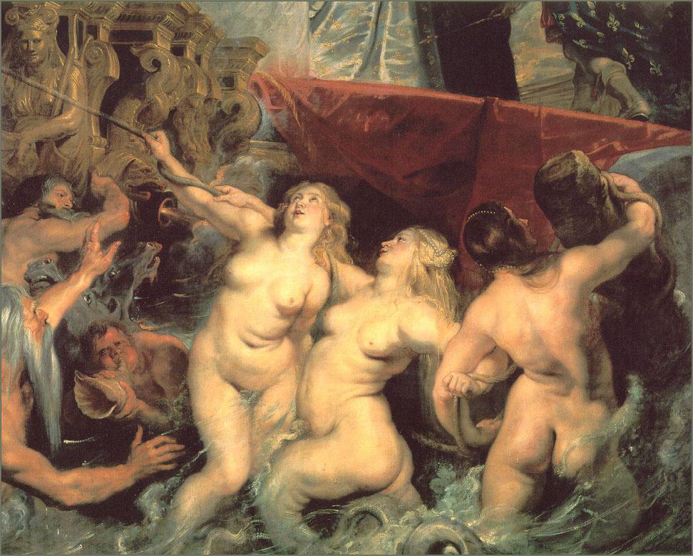 Питер Пауль Рубенс. Прибытие Марии Медичи в Марсель (фрагмент)
