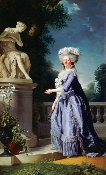 Adelaide Laby-Guillard. Marie-Therese-Louise-Victoria French, called Madame Victoire, the statue of Friendship in the Palace of Belive