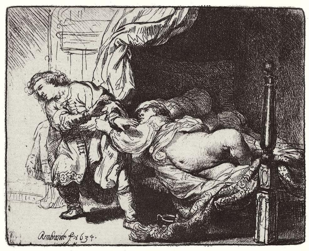 Рембрандт Ван Рейн. Иосиф и жена Потифара