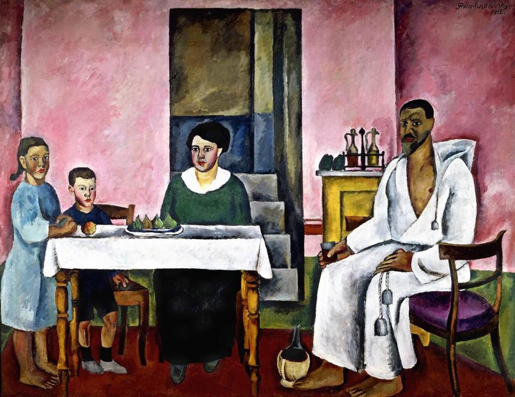 Petr Petrovich Konchalovsky. Family portrait (Siena)