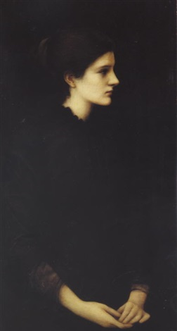 Edward Coley Burne-Jones. PORTRAIT OF AMY GASKELL