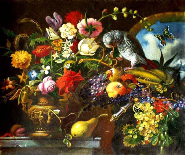 Daniil Litvinov. Натюрморт с цветами