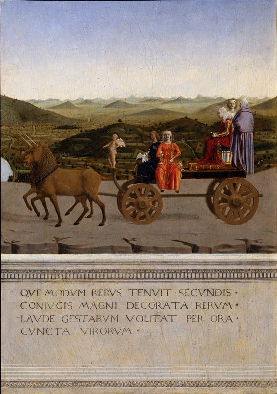 The Duke and Duchess on a triumphal chariot