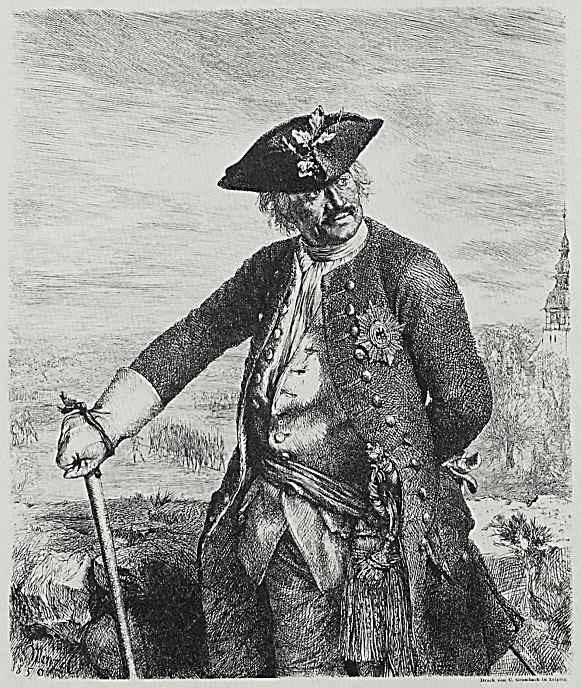 Адольф фон Менцель. Князь Леопольд I фон Ангальт-Дессау