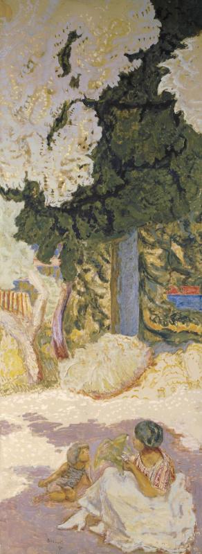 Pierre Bonnard. The Mediterranean sea (triptych). Right panels