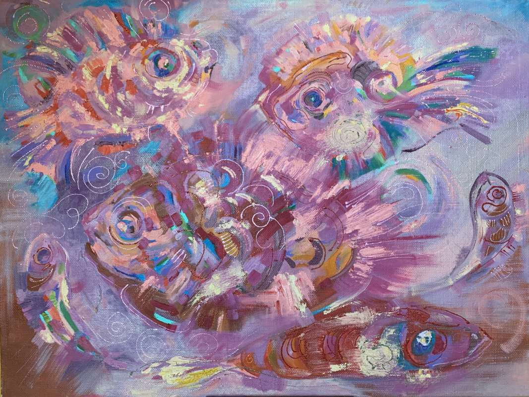 Ekaterina Gladysheva. Fish on a platter