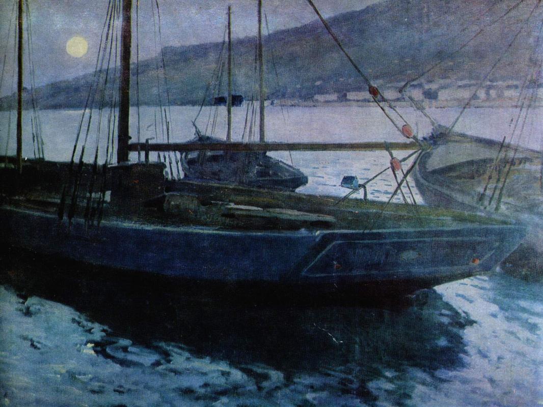 Михаил Пелопидович Латри. Восход луны